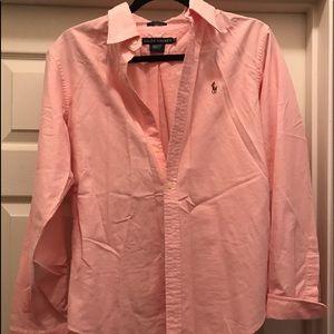 Ralph Lauren Classic Fit light pink oxford